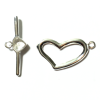 8 Sets Silver plated Heart Clasps 20mm Jewellery Findings